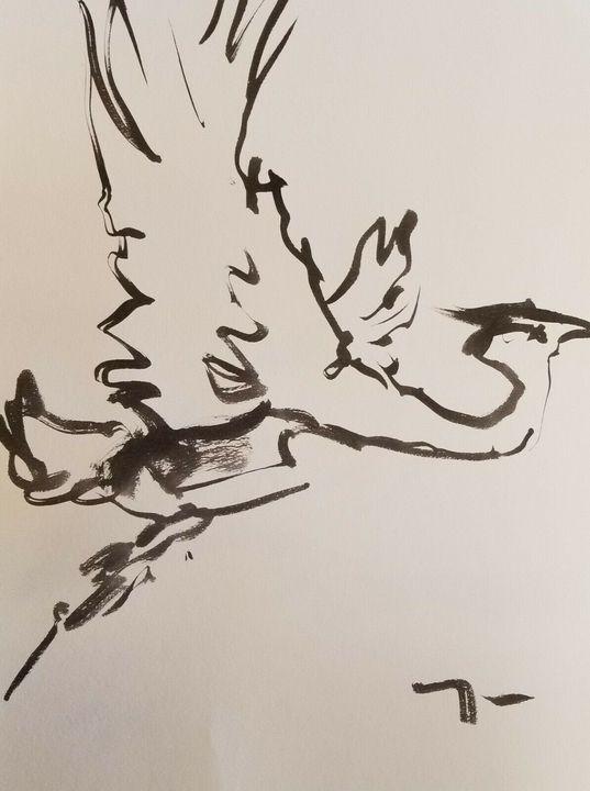 Jose Trujillo Minimalist Crane - Jose Trujillo Fine Art