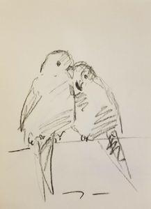 Jose Trujillo Charcoal Love Birds