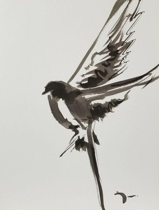 Jose Trujillo Abstract Flying Bird - Jose Trujillo Fine Art