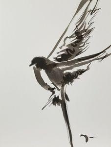 Jose Trujillo Abstract Flying Bird