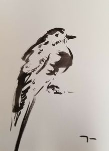 Jose Trujillo Expressionist Bird Ink