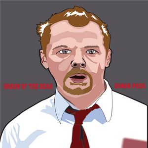 Shaun Of The Dead Vector Portrait