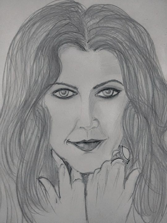 Drew Barrymore in pencil strokes - Dreamz