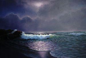 Sea at night : Year 2009