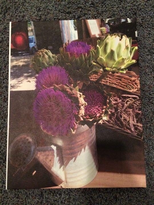 Artichoke Flower on canvas - Food Prints