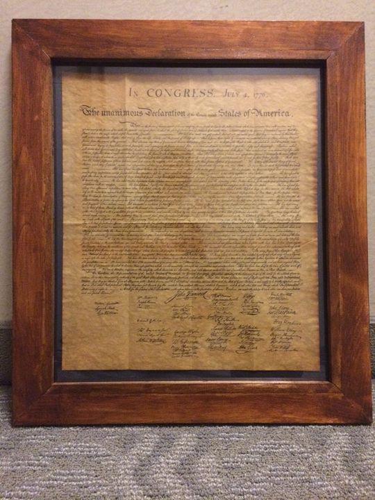 Framed Declaration of Indendence - bluefurn