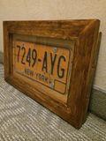 Framed U.S.A. License Plates