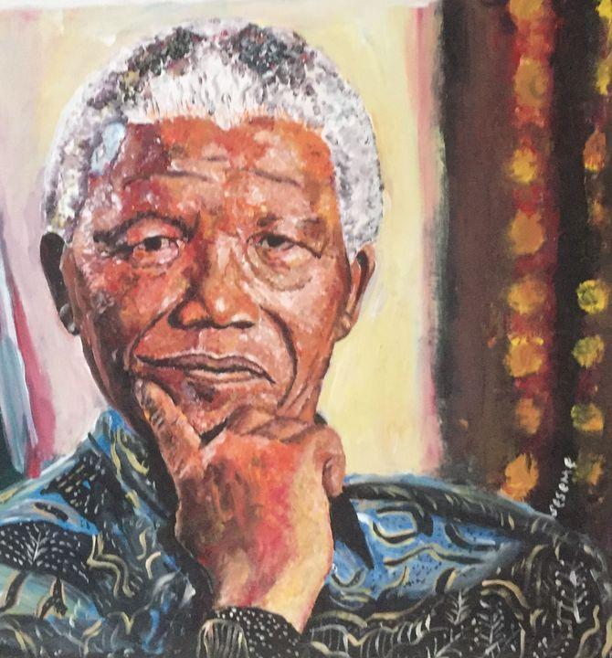 Nelson Mandela Portrait - Dukes Gallery