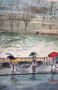 Quai de Paris Sous la Pluie