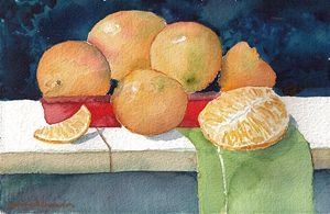After another artist's oranges still