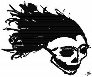Flowing Skull