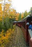 Autumn Train through mountains