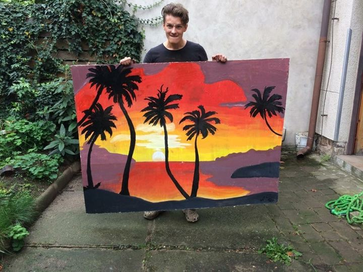 Sunset Palm - My Artworks (15-16)