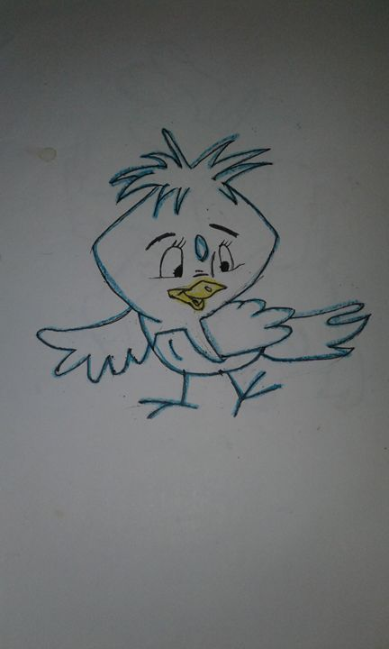 Blue Bird - My Favorite Cartoon Drawings