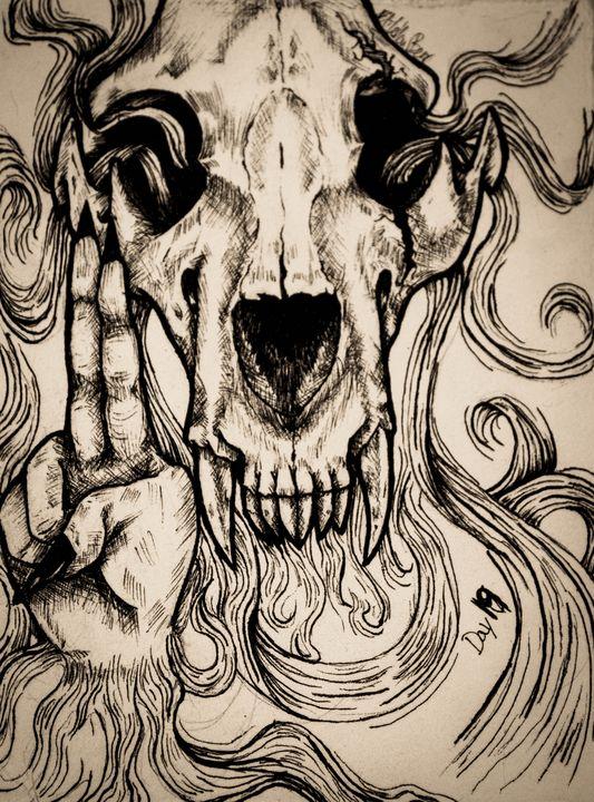 Bones (bronze) - EliYellowBear ArtFart