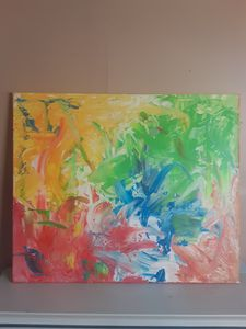 A lesson in finger painting