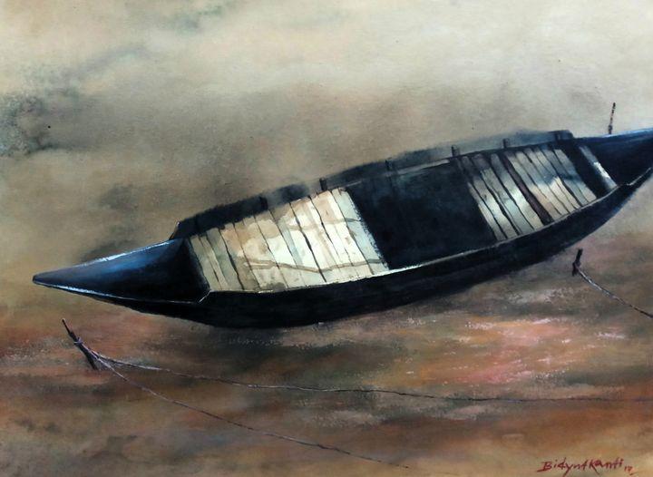 Boat lefted - Bidyut Kanti Majumdar
