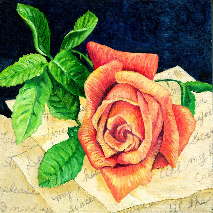 Rose with Old Love Notes - Gary Bigelow