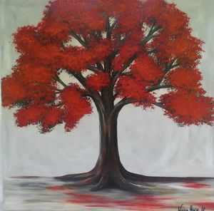 Baum in rot