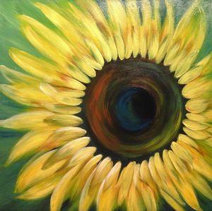 Sonnenblume auf grün