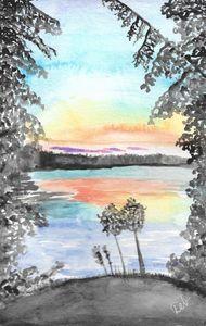 September Skeleton Lake Sunset