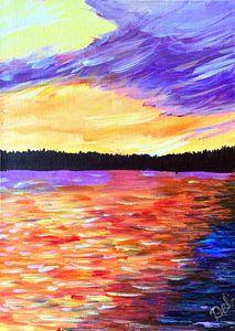 Sunset on Skeleton Lake