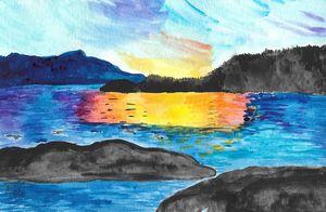 Sunset Over Robson Bight