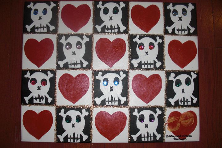 skulls and hearts - samuels sisters