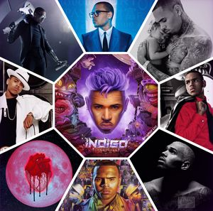 Chris Brown Albums collage