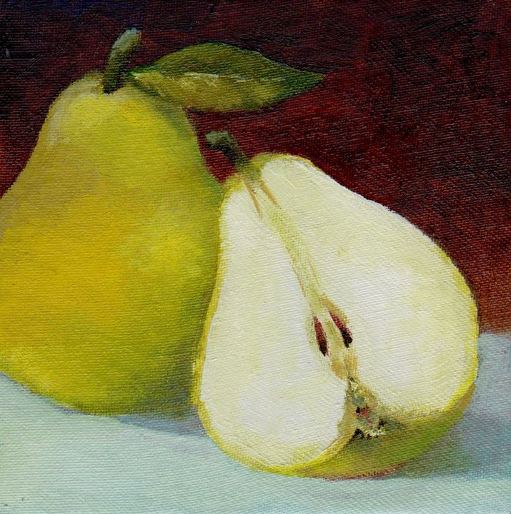 one and half pear (SOLD) - VoVA ART studio
