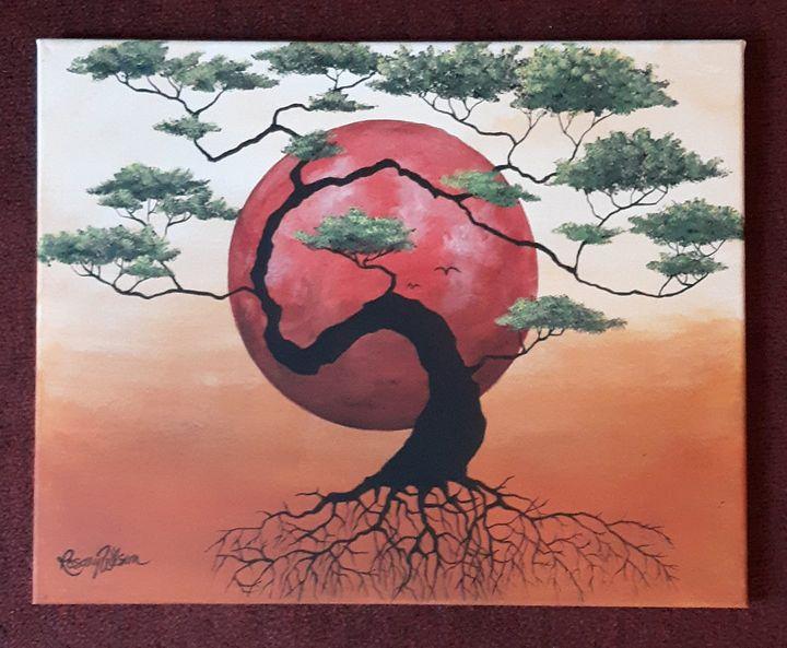 Bonsai Sunset - Rosary Wilson Art