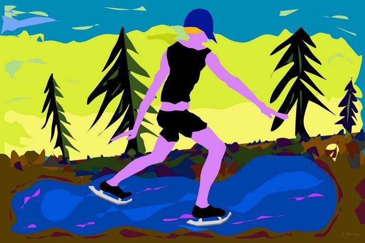 Silver Skates - Artist Laurence