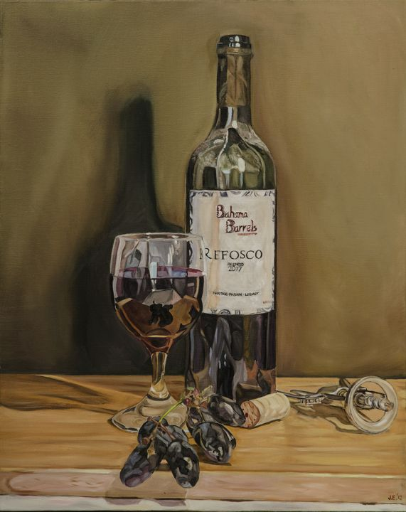 Bahama Barrel Refosco Wine - J Eneas Art