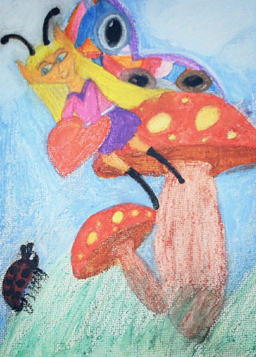 Mushroom Fairy Shows Her Heart - Connie Ann LaPointe