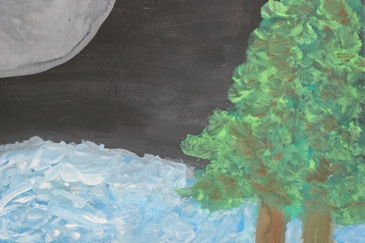 Full Moon Over River - Connie Ann LaPointe