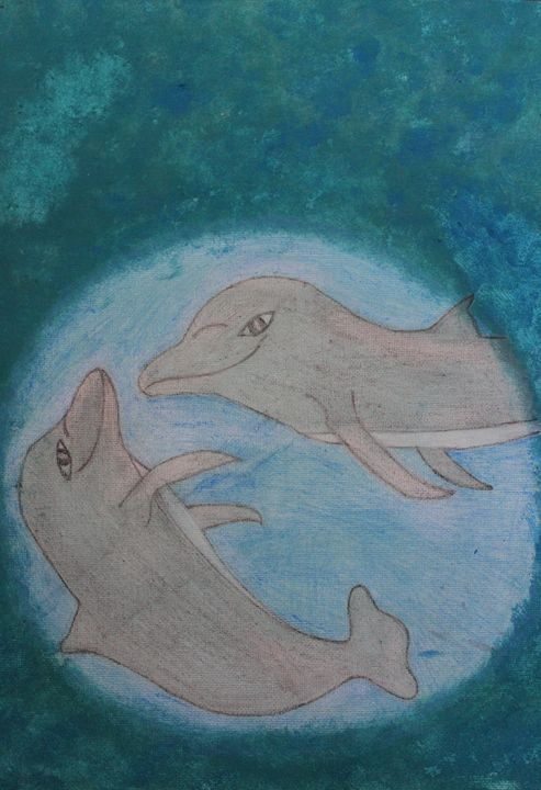 Playful Dolphins - Connie Ann LaPointe