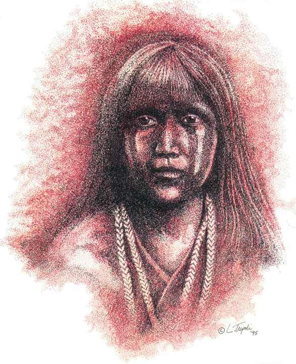 Mojave Girl - Art from the Inkwell
