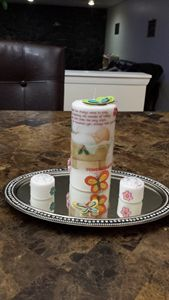 new born baby candles set
