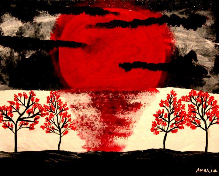 blood moon - Amelia's Artwork