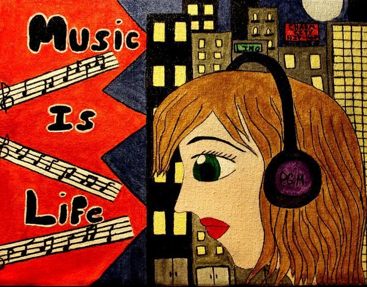 music is life - Amelia's Artwork