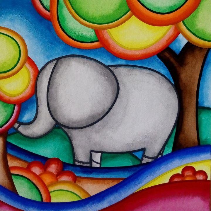 Elephant IV - Daniela's drawings and paintings