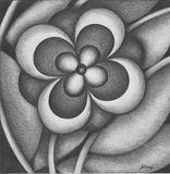 original miniature flower drawing