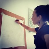 Daniela's drawings and paintings