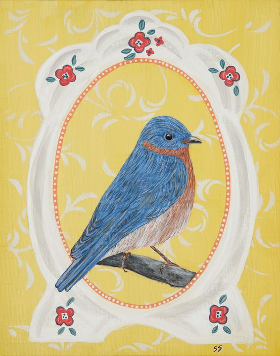 Bluebird in Frame - Susan Sawyer
