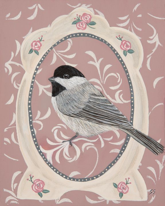 Framed Chickadee - Susan Sawyer