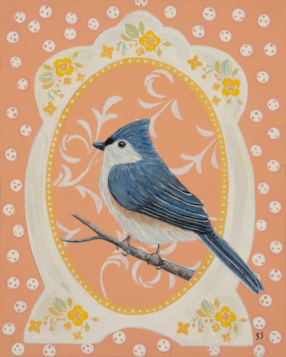 Framed Bird (Tufted Titmouse) - Susan Sawyer
