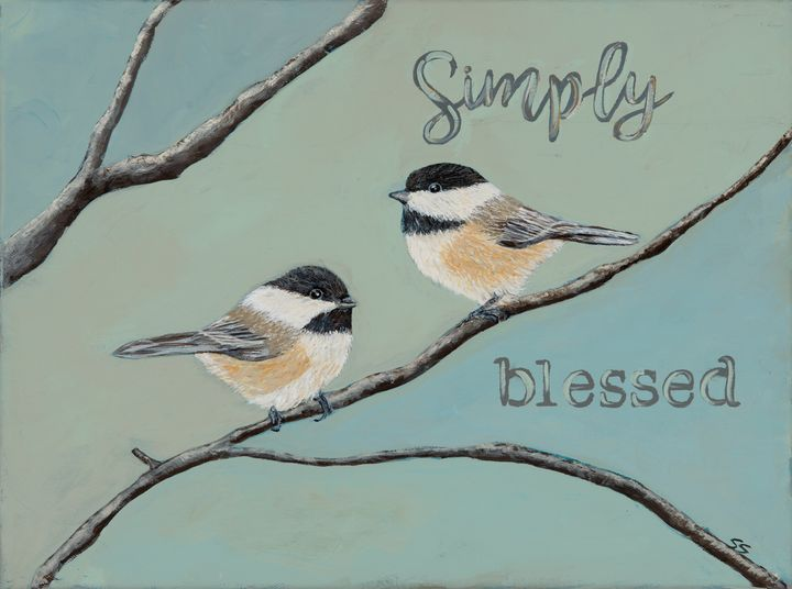 Chickadees, Simply Blessed - Susan Sawyer