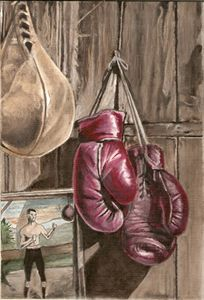 Nostalgic boxing painting