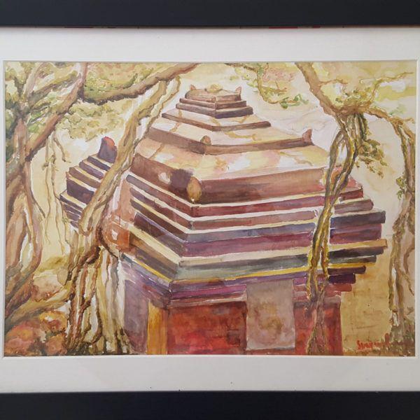Temple in woods - Swarnarao art