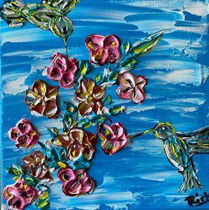 Hummingbirds feeding - Rich Sokolis